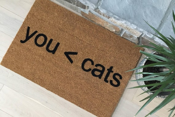 Funny Doormat / Welcome Mat / Unique Gifts / Funny Gifts / Unusual Gift / Gifts for Friends / Cat Lover Gifts / Gift for Her / Gifts for Him