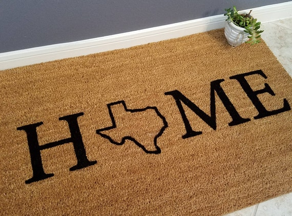 Personalized Doormat / Door Mats / Welcome Mat / Custom Doormat / Texas Decor / Gift Ideas / My State Doormat / Family Gifts / Door Mat