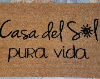 Casa Del Sol Doormat / Summer Decor / Doormat / Welcome Mat / Gifts for Her / Gifts for Him / Housewarming Gift / Spanish Gift / Tropical