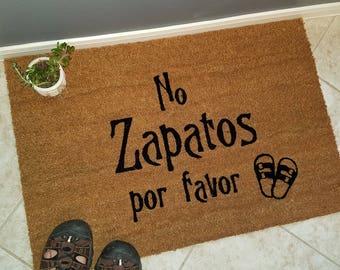 No Zapatos Por Favor Doormat and Many Other Language Doormats / Welcome Mat / No Shoes Please / Door Mats / Custom Doormat / Family Gift