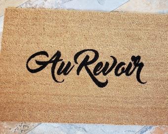 Au Revoir Door mat, Language Home Decor, Unique Door Mats, Cute Home Decor, Gifts for Him, Gifts for Brother, French Doormat