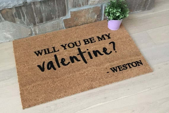 Valentine's Day Doormat / Welcome Mat / Custom Doormat / Gift for Lovers / Gifts for Her / Gifts for Girlfriend / Personalized Doormat