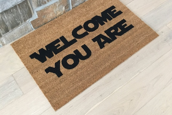 Star Wars Doormat / Yoda Doormats / Welcome Mat /Custom Doormats / Door Mats / Gift for Star Wars Lover / Yoda Gifts / Star Wars Gifts