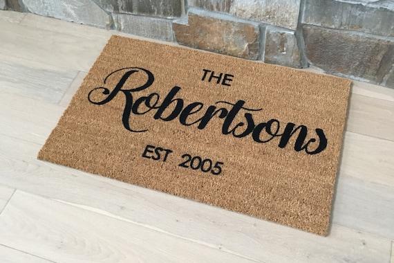 Door Mats Welcome Mat Personalized Doormat Custom Door Etsy