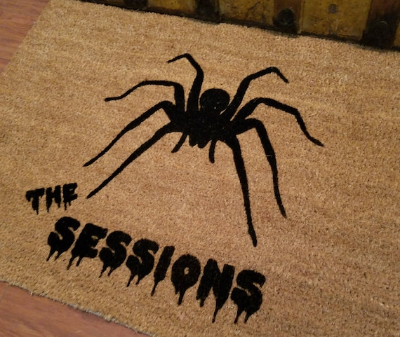 Door Mats / Welcome Mat / Custom Doormat / Personalized Doormat / Halloween Doormat / Unique Gift Ideas / Spider Doormat / Creepy Doormat