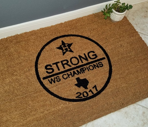 Astros WS Doormat / Welcome Mat / WS Champions / Custom Doormat / Door Mats / Family Gift / Sports Fan Gift / Astros Fans / Christmas Gift