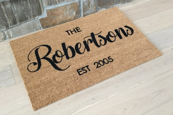 Personalized Doormat / Custom Doormat / Last Name Gift / Welcome Mat / Personalized Wedding Gift / Family Name Gift / Gifts for Couple's