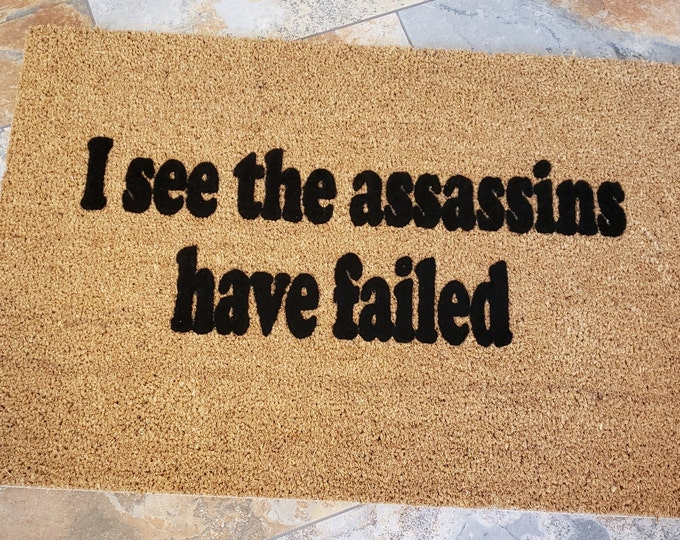 Assassins Failed Doormat / Welcome Mat / Custom Mat / Funny Doormat / Gifts for Him / Gifts for Her / Housewarming Gift / Assassins Creed