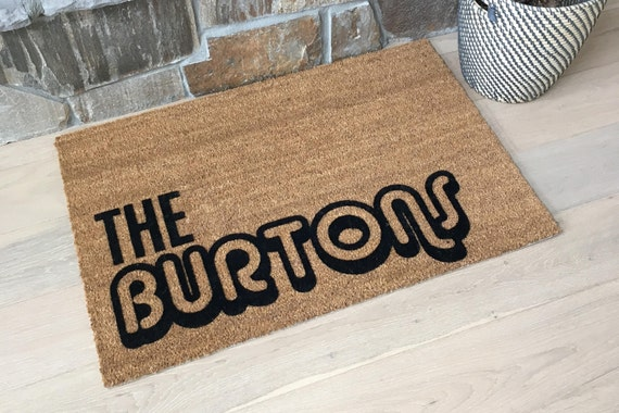 PRICE REDUCED  /  Custom  / Door Mats Designs / Retro Design / Gift / Coir Doormat / Cool Door Mats / Cool Door Mats / Personalized Door Mat