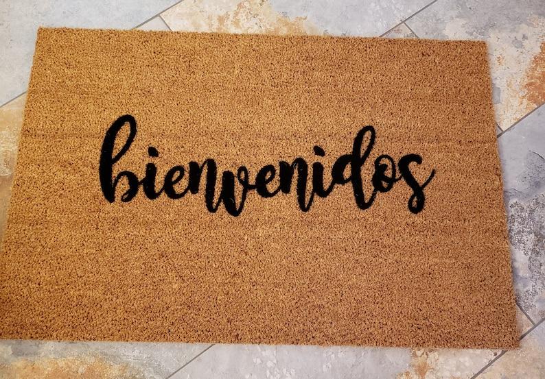 Spanish Doormat / bienvenidos Doormat / Spanish Welcome Mat / image 0