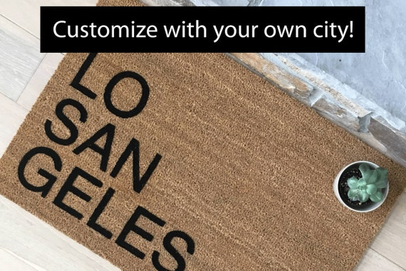 City Doormat, Gifts for Him, Gifts for Brother, Gifts for Dad, Cool Door Mats, Unique Gift Ideas, Modern Home Decor, Welcome Mats