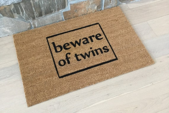 Welcome Mat / Door Mats / Custom Doormat / Twins Doormat / Unique Twin Gifts / Personalized Doormat / For Moms of Twins / Funny Door Mats