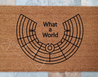 Burning Man Doormat /Personalized Doormat / Welcome Mat / Door Mats / Team Decor / Gift for Friend / Team Gift / Gift Ideas / Event Mat