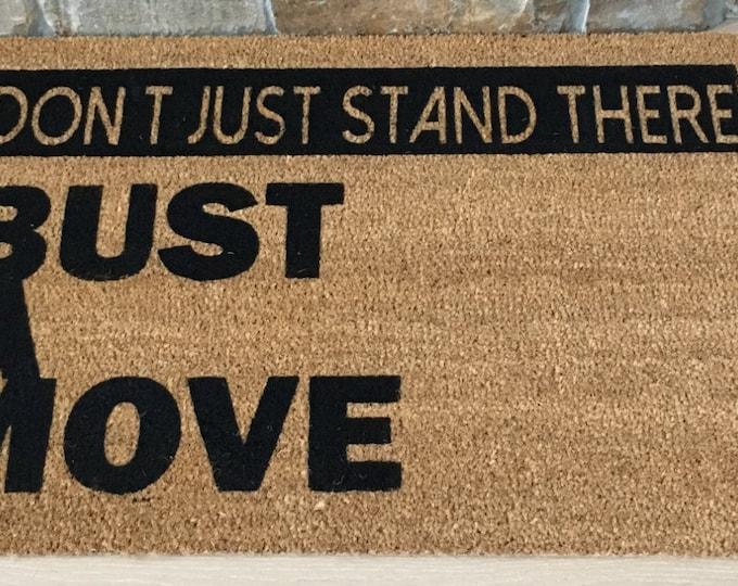 Funny Doormat / Welcome Mat / Custom Doormat /  Pop Culture Doormat / Young MC / 80's Decor / Gifts for 80's Fans / Gifts for Friends