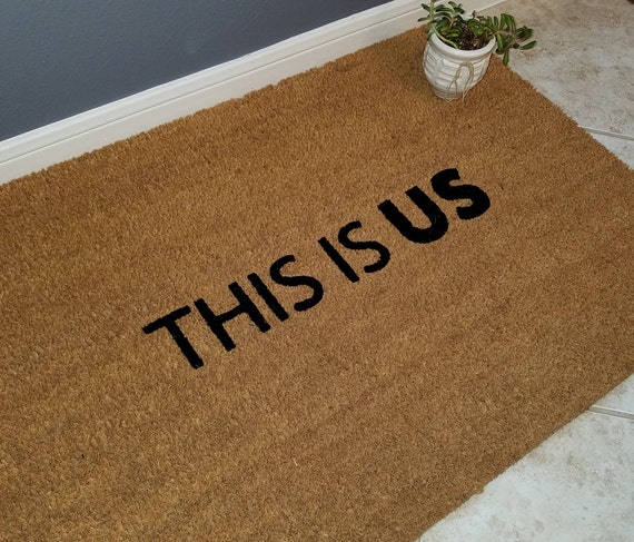 This Is Us Doormat / Welcome Mat / Door Mats / Custom Doormat / Family Gift / Housewarming Gift / Holiday Gift Ideas / Gifts For Friends