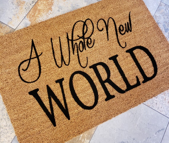 A Whole New World Door Mat / Disney Mat / Welcome Mat / Custom Door Mat / Classic Doormat / Door Mat / Unique Gift Ideas / Family Gifts