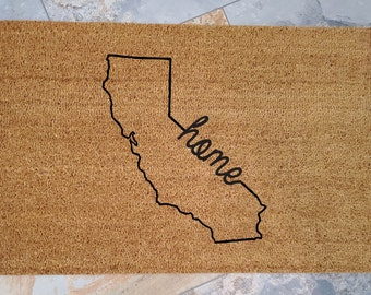 Your State is your HOME,  Pick Your STATE, Custom Doormats, Personalized Doormats, Welcome Mats, Family gift ideas, Home State Pride