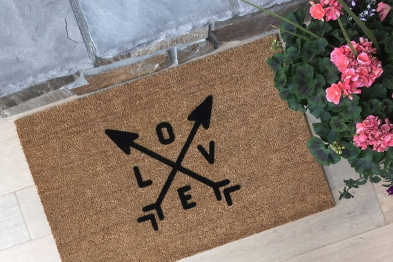 Lovers Doormat / Custom Doormat / Welcome Mat / Romance Welcome / Gifts for Mom / Gifts for Her / Door Mats / Personalized Doormat / Love