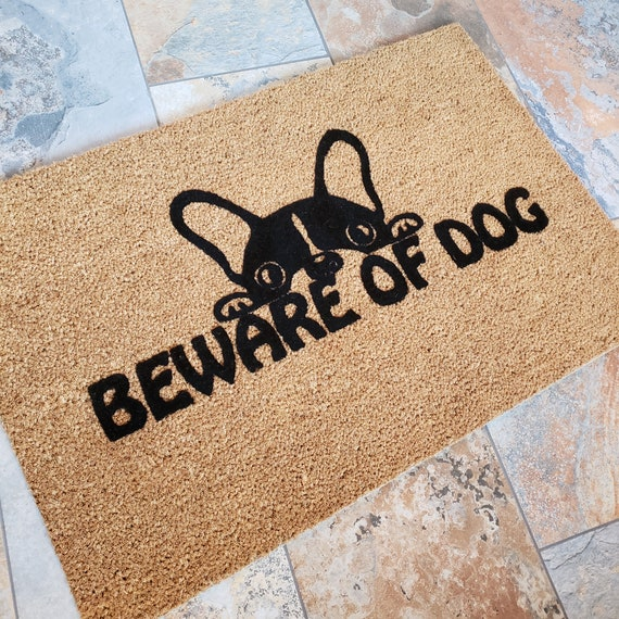 Beware of Dog / Dog Doormat / Welcome Mat / Dog Lovers / Custom / Handmade / Dog Gift Ideas / Love My Pet / Cute and Adorable / Door Mats