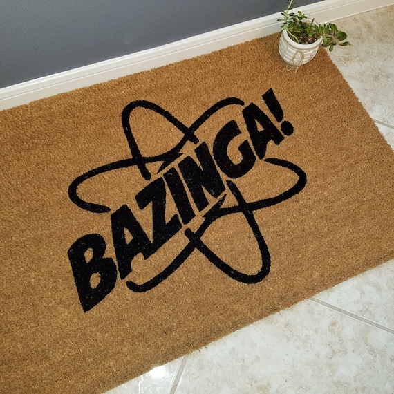 Bazinga Doormat / Welcome Mat / Door Mats / Custom Doormat / Family Gift / Housewarming Gift / Big Bang Theory Gifts / Gifts For Friends