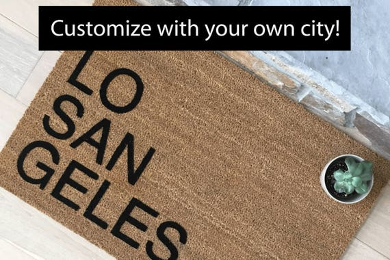 Custom City Door Mat - You Choose Your City
