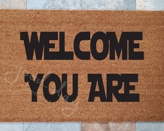 Welcome You Are Doormat / Yoda Doormat / Custom Doormat / Welcome Mat /Doormats / Gift for Star Wars Lover / Doormat / Star Wars Gifts
