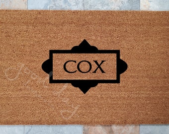 Classy Family Name Welcome Mat and Many Other Custom Doormats, Custom Welcome Mat, Unique Door Mats, Modern Doormat, Family Gift Ideas