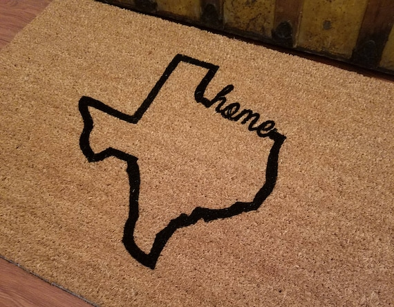 Doormats / Welcome Mat / Custom Doormat / Personalized Doormat / Texas Mat / My State Gift / Unique Gift / Family Gifts / Housewarming Gifts