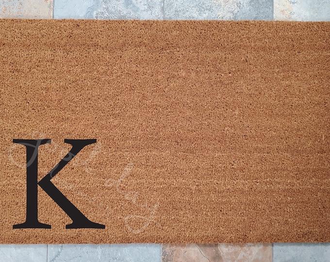 Monogram Doormat / Large Initial Doormat / Custom Doormat / Welcome Mat / Doormats / Housewarming Gift / Doormat / Cool Door Mats