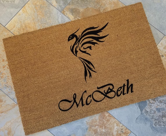 Phoenix Doormat / Family Name Doormat / Custom Doormat / Door Mats / Wedding Gift Idea / Gift for Couple's / Family Gift / Unique Gift Ideas