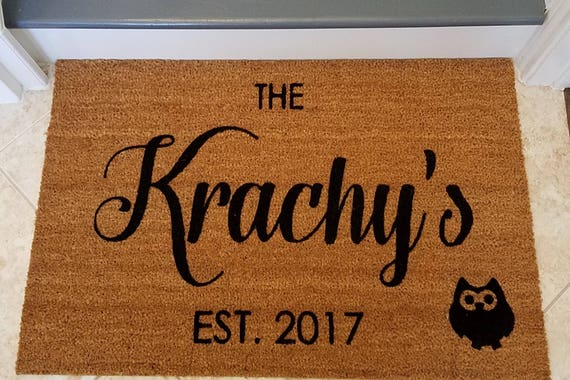 Doormat / Custom Door Mats / Personalized Door Mats / Home Decor / Fall doormat / Family Name Doormat / Front Door Mat / Welcome Mat
