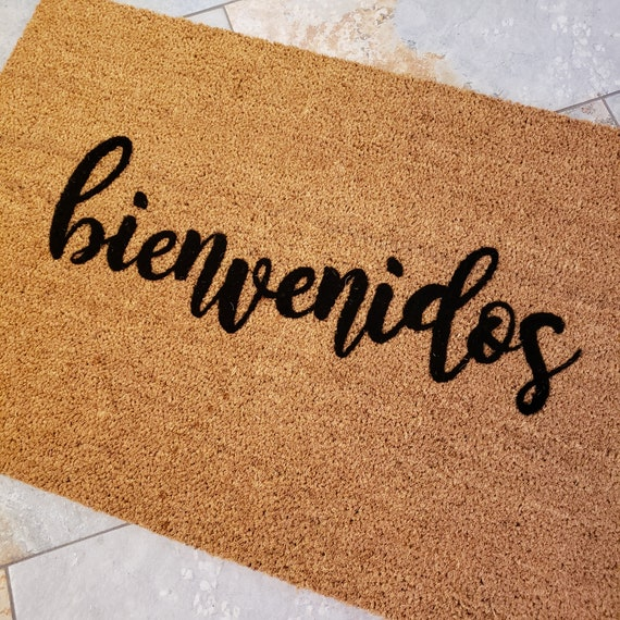 Spanish Doormat / bienvenidos Doormat / Spanish Welcome Mat / Spanish Gifts / Spanish Decor / Custom Doormats / Housewarming Gift Ideas
