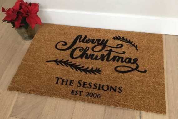 Personalized Doormat / Welcome Mat / Door Mats / Custom Doormat / Christmas Doormat / Gift Ideas / Holiday Decor / Seasonal Doormat