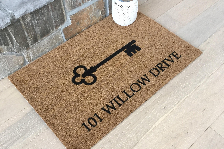 Doormats Welcome Mat Personalized Doormat Address