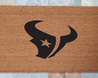 Doormats / Welcome Mat / Custom Doormat / Texans / Sports Fan / NFL Gift Ideas / Gifts for Him / Gifts for Boyfriend / Gifts for Her / Gifts