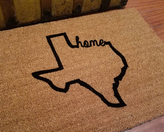 Door Mats / Welcome Mat / Personalized Doormat / Custom Doormat / My State Gift / Family Gift / Unique Gift Ideas / Texas Gifts / State Gift