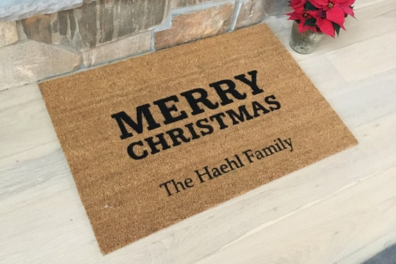 Personalized Doormat / Welcome Mat / Door Mats / Custom Doormat / Christmas Mats / Holiday Doormat / Unique Gift Ideas / Family Gifts