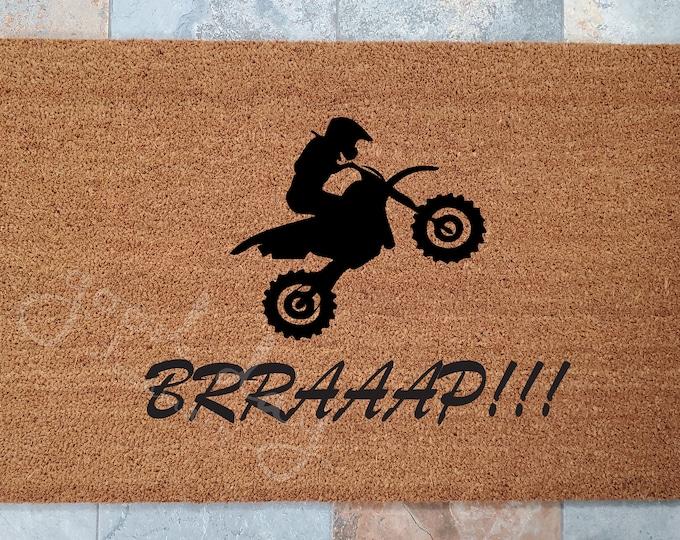 Dirt Bike Door Mat / Out Riding Door Mat / Door Mat / Custom Doormat / Welcome Mat / Personalized Doormat / Funny Doormat / Gift for Friends