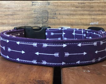 Prince's Collar - Purple Arrow Dog Collar
