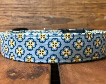 Dylan's Collar - Gray Pattern Dog Collar