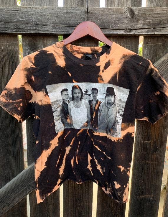 M Sz U2 Cropped Tie Dye Shirt