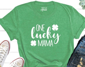 bcc7857a One Lucky Mama Shirt, St. Patrick's Day Shirt, St. Patty's Day, Mom Shirt,  Lucky Mom Shirt, Pregnancy Reveal Shirt, Baby Announcement Shirt