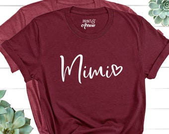 Mimi Shirt, Mimi Gift, Grandma Shirt, Christmas Gift for Mimi, Mothers Day, Pregnancy Announcement Grandparents, Best Mimi, Mimi Bear Shirt