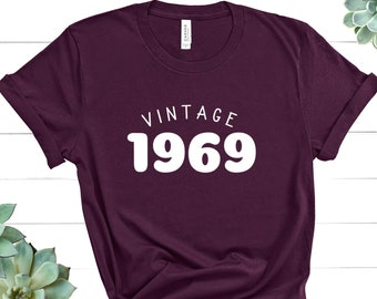 Vintage 1969 Shirt 50th Birthday Fiftieth Tee Fifty AF Funny Queen Hello