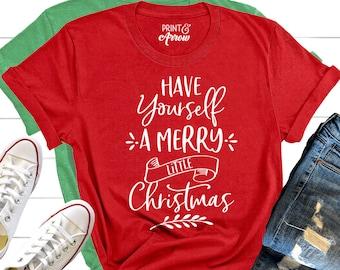 Joy Monogram Merry Christmas Sweaters Holiday T-Shirts S-3XL NEW