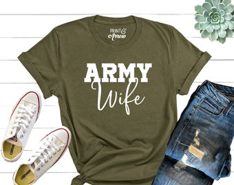a6414138e Army Wife Shirt, Military Wife Shirt, Mothers Day Gift, Army Wife Tee, Army  Wifey T-Shirt, Navy Wife, Marine Wife, Christmas Gift for Wife