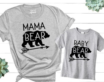 Mama Bear Shirt, Baby Bear Shirt, Mommy and Me Shirts, Matching Shirts, Matching Family Shirts, Mom Gift, Mommy and Me Outfit, Gift for Wife