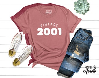 0f2952d2 18th Birthday Shirt, Vintage 2001 Shirt, 18th Birthday Tee, Funny 18th  Birthday Shirt, Made In the 2000s, 18th Birthday Gift, 18 AF Shirt