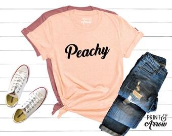 3d328d72d1a97 Peachy Shirt, Funny Shirt, Southern Shirt, Women's T-Shirt, Cute Shirt,  Peach Shirt, Just Peachy, Vintage Shirt, 70's Shirt, Peach T-shirt