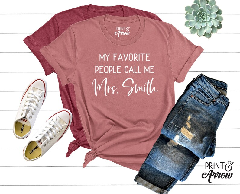 19cc8536 My Favorite People Call Me Teacher Shirt Personalized Gift | Etsy